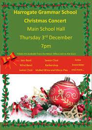 Christmas Concert Poster Christmas Concert 2015 Harrogate Grammar School Harrogate Grammar