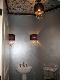 love this for small bathroom more stencil on ceiling i could see this in one of the india bathrooms where a metallic ceiling would look great with the