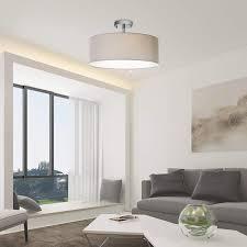 Deckenleuchte Sparksor Stoff Deckenlampe Schwarz Rund Pendelleuchte Für Wohnzimmer Schlafzimmer Küche Esszimmer Durchmesser 50cm Chrom Matt