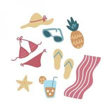 Summer Icons Feminine Doodled Summer Icons Free Stock Photo By Sara On