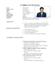 official resume format – Resume Letter Collection