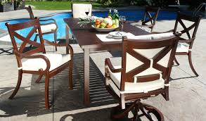 get the look of teak patio furniture with the durability of cast aluminium