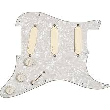 emg emg dg20 david gilmour pre wired pickguard pickup set ivory hidden seo image