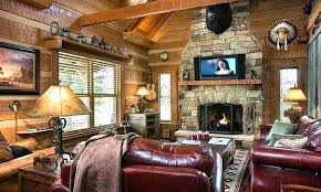Log Cabin Living Room Delectable Log Cabin Living Room Cozy The Dark Wood And Fireplace Add Charm To