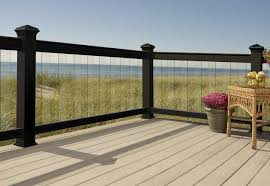 Glass And Metal Deck Railing Design And Ideas Glass Deck Railing Home Depot