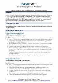 Mortgage Loan Processor Resume Samples Qwikresume