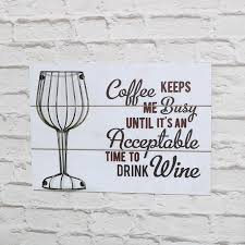 Quote Plaques Simple Humerous Wine Quote White Plaque Wall Mounted Cork Holder Sign