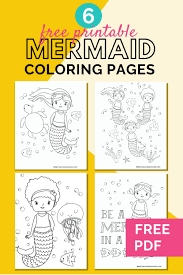 Our coloring pages are free and classified by theme, simply choose and print your drawing to color for hours! 6 Cute Mermaid Coloring Pages For Kids Free Printables Fun Loving Families