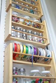 need budget craft room storage ideas visit thrift s for old e racks this idea comes from midnight creations