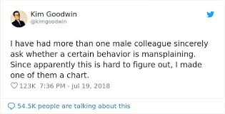 Mansplaining Chart Male Coworkers Were Asking This Woman Whether They Were