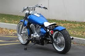 honda spirit 750 shaft drive blue collar bobbers