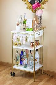 IKEA Hack: Gold & Marble Bar Cart | Gold marble, Bar carts and Ikea hack