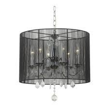 6 light crystal chandelier black drum shade chandelier 6 crystal chandelier pendant light with black drum shade and drum chandelier also drum chandeliers