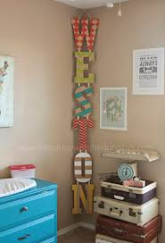 Diy Painted Name Letters Hung Vertically Vs Horizontally In
