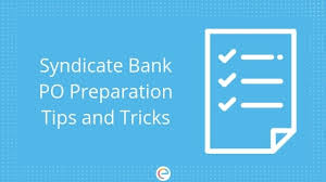 Syndicate Bank Syndicate Bank Po Preparation Detailed Section Wise Tips