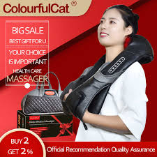 <b>Neck Massager Electric</b> Shiatsu for Back Body Shouder <b>Massage</b> ...