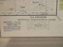 La Grande Oregon Vintage 1958 Sectional Aeronautical Chart