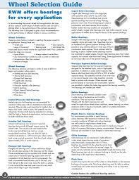 Wheels Bearing Selection Manualzz Com
