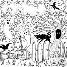 Small Picture Spooky Halloween Drawings Fun for Halloween