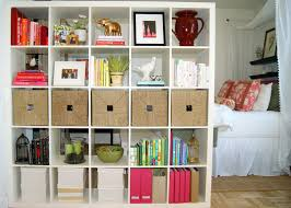 white ikea furniture. Creative Bedroom Devider With White Ikea Expedit Bookcase For Home Furniture Ideas