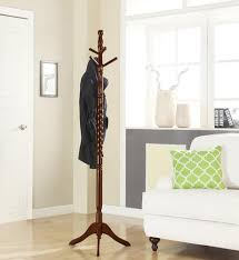 Twist Coat Rack Home to Office Solutions Walnut Finish Twisted Coat Tree at Menards 82