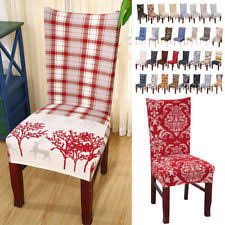 chair seat covers dining room removable stretch slipcovers flower printed design