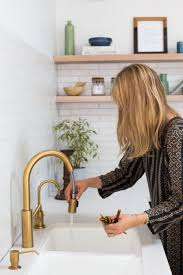Polished Brass Kitchen Faucet  Wonderful Kitchen Ideas - Kitchen faucet ideas