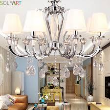 sol chandeliers lighting led pendant lamp crystal chandelier modern lights chrome iron re avize heracleum re