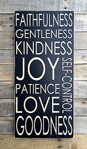 Wooden Signs With Quotes Delectable Amazon Uniquepig Faithfulness Gentleness Kindness Funny Quotes