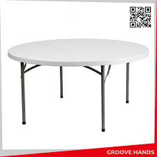 60 round white plastic folding table 8 people