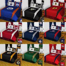 nhl hockey logo bedding set sports team bed comforter sheets pillowcase