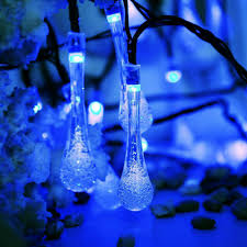 Led Water Lights Details About 30 50 Led Waterproof Water Drop String Fairy Light Outdoor Decor Solar Lights Rk