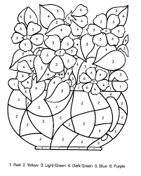 Small Picture Coloring Pages Color By Number Letter A Numbers Coloring Page