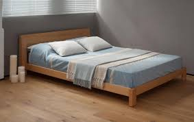 Solid Wood Bedroom Furniture Uk Java Low Chunky Bed Natural Bed Company