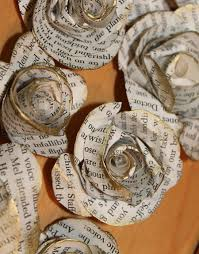 Craft rosettes from book ...