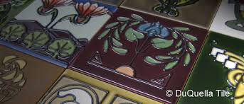 Arts And Crafts Decorative Tiles DuQuellaTile Handcrafted decorative tiles in Arts and Crafts Art 16