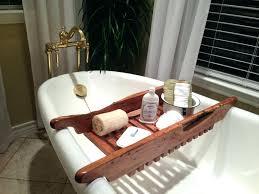 bathtub tray en bathroom walmart bath caddy wood tombolo . bathtub tray ...
