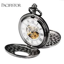 aliexpress com buy pacifistor pocket watches steampunk wind up aliexpress com buy pacifistor pocket watches steampunk wind up vintage pocket watch for men relojes 2017 gift mechanical skeleton dial classic from
