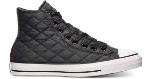 Lyst - Converse Unisex Chuck Taylor Hi Quilted Nylon Casual ... & Lyst - Converse Unisex Chuck Taylor Hi Quilted Nylon Casual Sneakers From  Finish Line in Black for Men Adamdwight.com