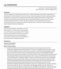Database Administrator Objectives Resume Objective