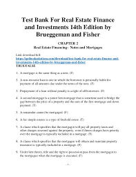 statistics for business and economics student value edition th edit  1 test bank for real estate finance and investments 14th edition by brueggeman and