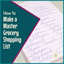 How To Make A Grocery List How To Make A Master Grocery Shopping List Titus 2 Homemaker