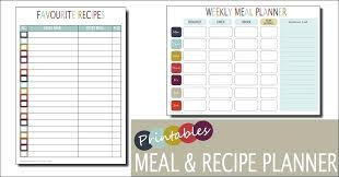 Weekly Meal Calendar Template Dinner Printable Menu Planners ...