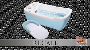 george summer infant has issued a voluntary recall of 86 000 fabric slings that are attached to lil luxuries whirlpool bubbling spa and shower bathtubs