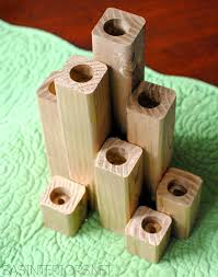 Diy Gold Candle Holders Diy Gold Wood Block Candle Holder Apartmentscom