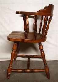 wood captain dining chairs 3 avail antique vintage hale maple wood wooden captain