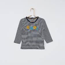 Shop dameskleding en schoenen op kiabi.be, uw favoriete online shop met mode aan kleine prijzen. T Shirt Manches Longues Eco Concu Bebe Garcon Bleu Kiabi 5 00