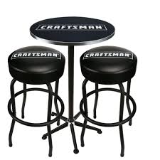Craftsman Stool And Table Set Craftsman Pub Table And Stools The Best Looking Seats Around At Sears