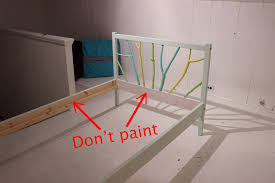 picture of prime and paint bed frame parts