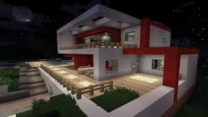 Minecraft Modernes Haus Bauplan